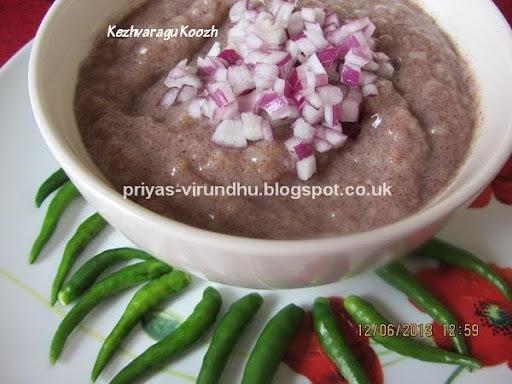 Kezhvaragu Koozh/Ragi Koozh/Finger Millet Porridge