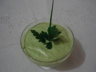 molho verde para salada com maionese