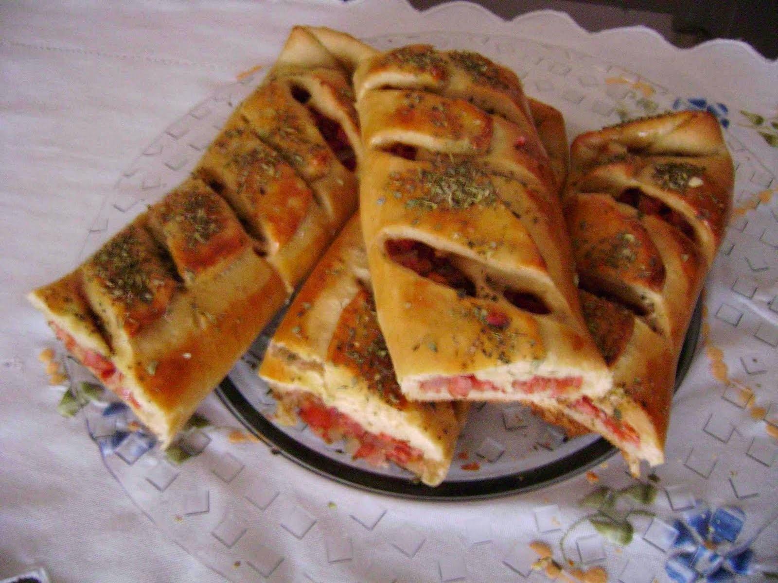 Pão Caseiro com Linguiça