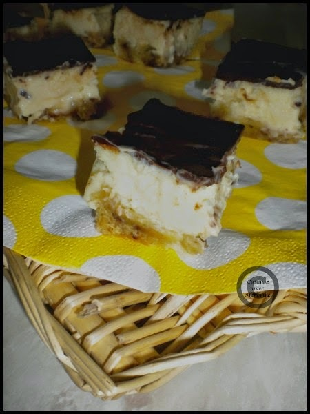 BATTLE FOOD #30 : Carrés de cheesecake aux 3 chocolats