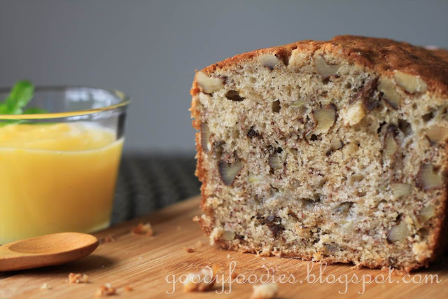 Recipe: Banana walnut bread with fresh lemon curd (Curtis Stone)