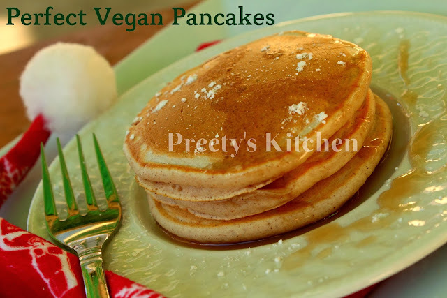Perfect Vegan Pancakes / Eggless Breakfast Pancake Recipe