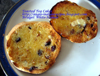 AFTERNOON TEA - A TOUCH OF NOSTALGIA - TOASTED TEA CAKE / TEA BISCUIT