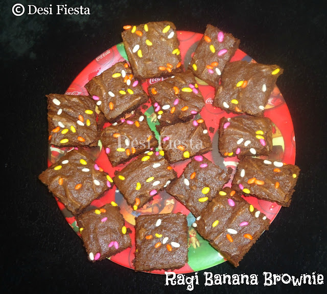 Ragi Banana Brownie (Come on - Lets cook Buddies ) Entry 32