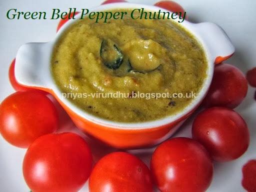 Green Bell Pepper Chutney/Capsicum Chutney