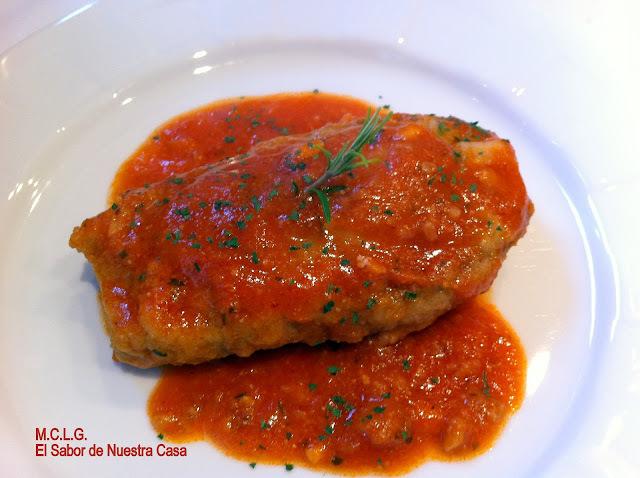 berenjenas y tomate