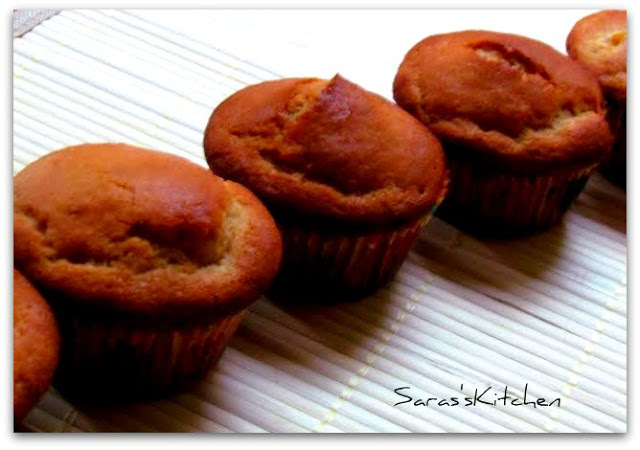 Eggless Whole wheat Orange Cupcake
