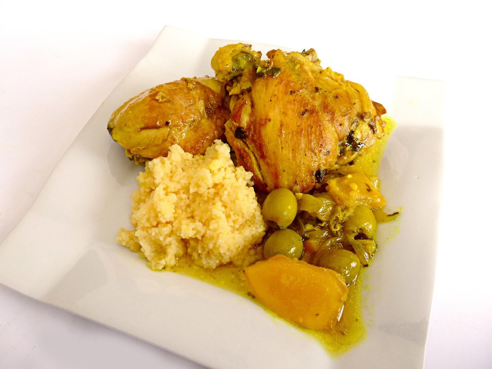 Tajine de Pollo con Aceitunas y Limón