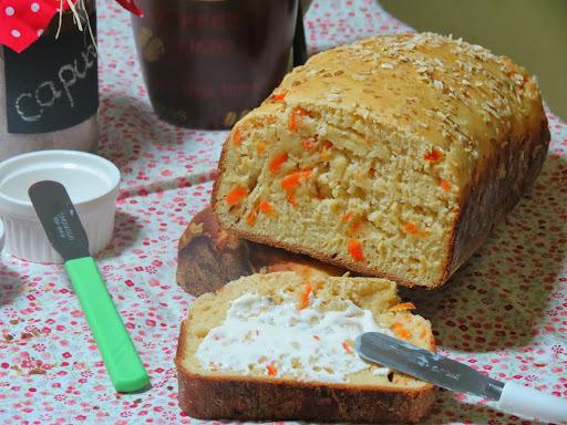 Pão de Cenoura, Aveia e Mel