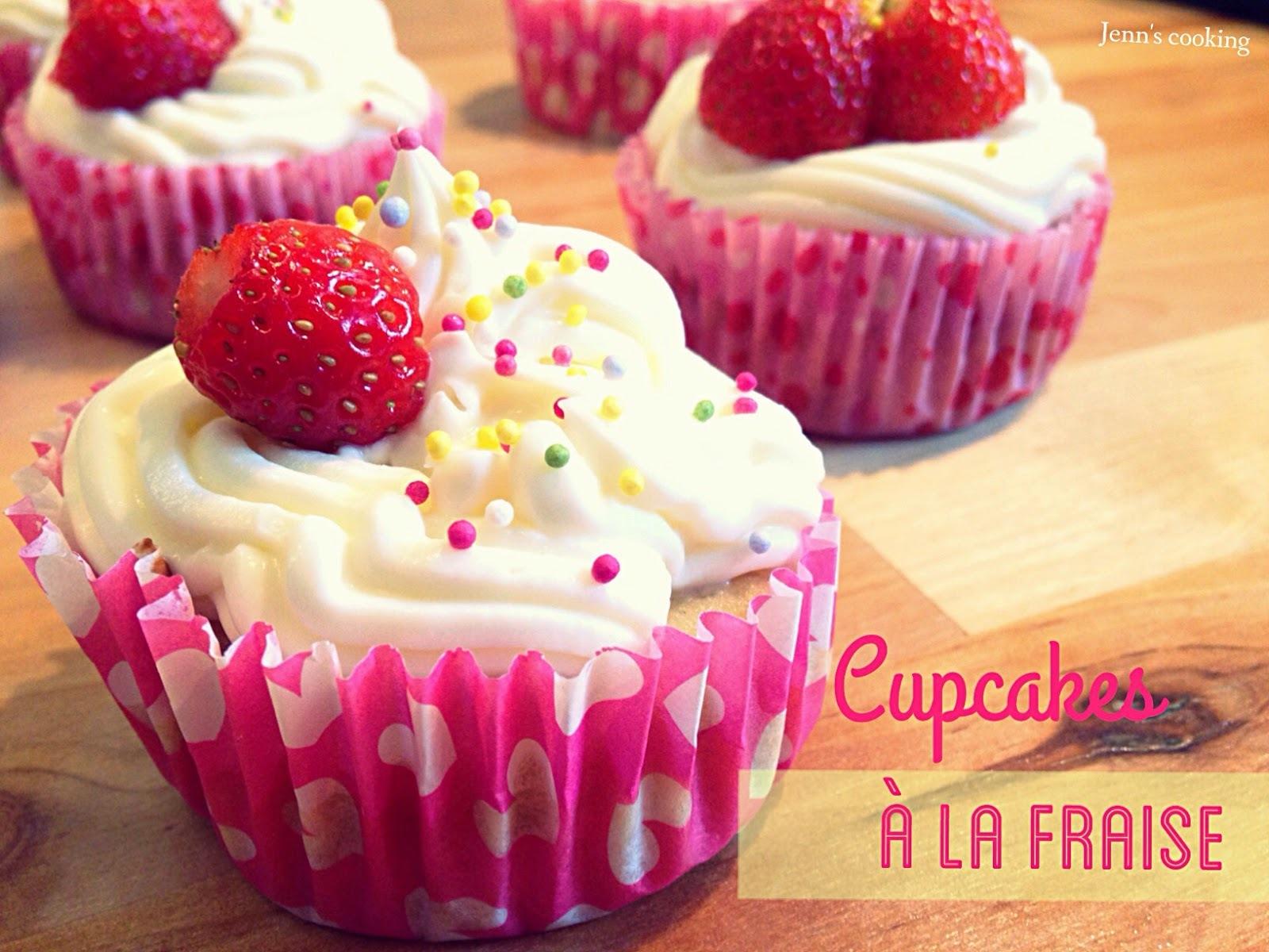 Cupcakes aux Fraises & Mascarpone