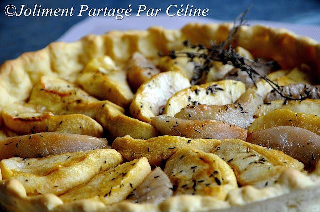 "Tarte pommes / poires au thym "" Sugar free"""