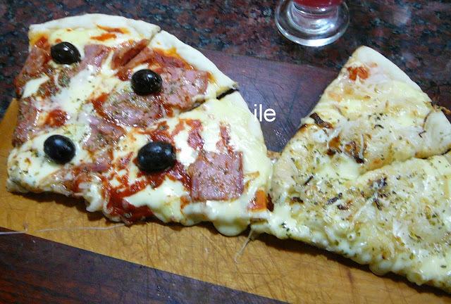 pizza de masa liquida