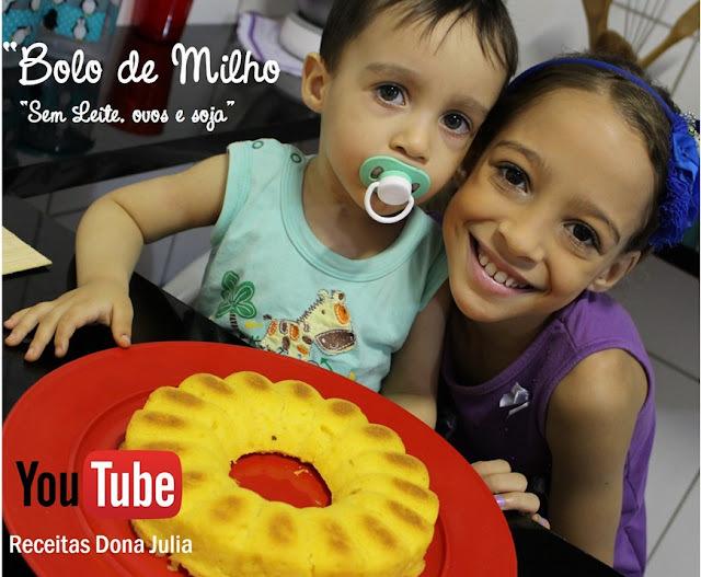 BOLO DE MILHO (SEM LEITE, OVOS E SOJA) #RECEITA VIDEO