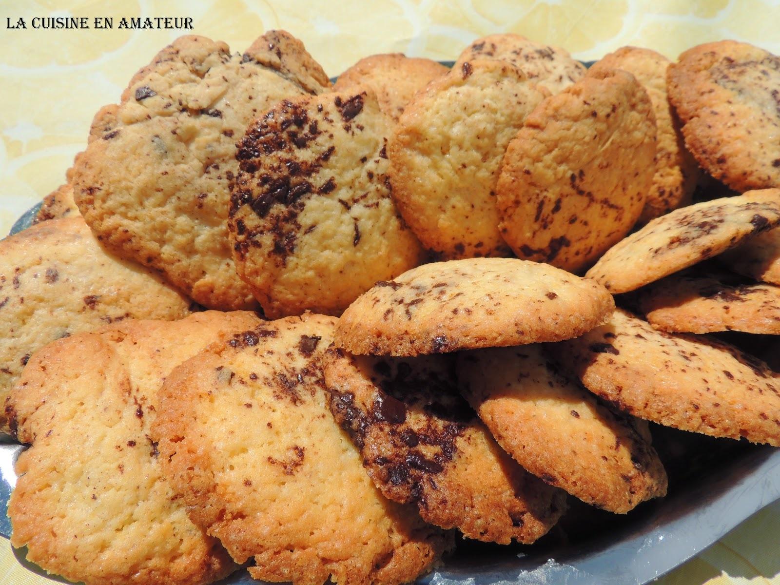 Biscuits aux pétites de chocolat