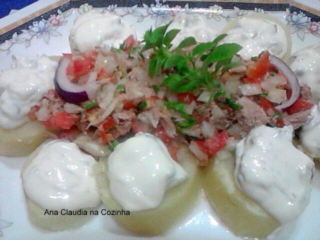 Salada de Batata com Vinagrete de Atum