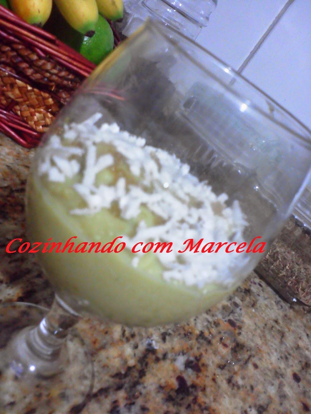 MOUSSE DE BATATA DOCE COM COCO