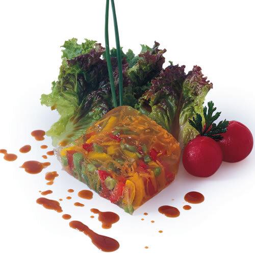 Terrina de verduras en vinagreta al chipotle