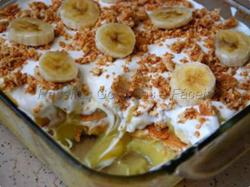 banana caramelada no forno