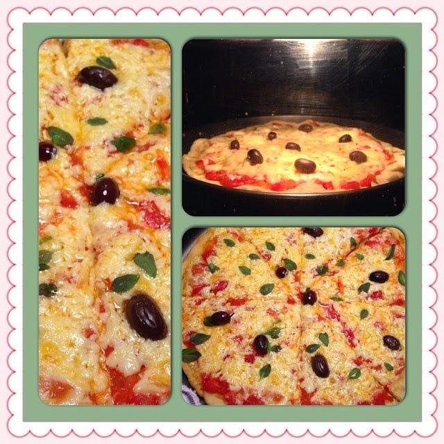 Pizza - Massa e Molho de Tomates