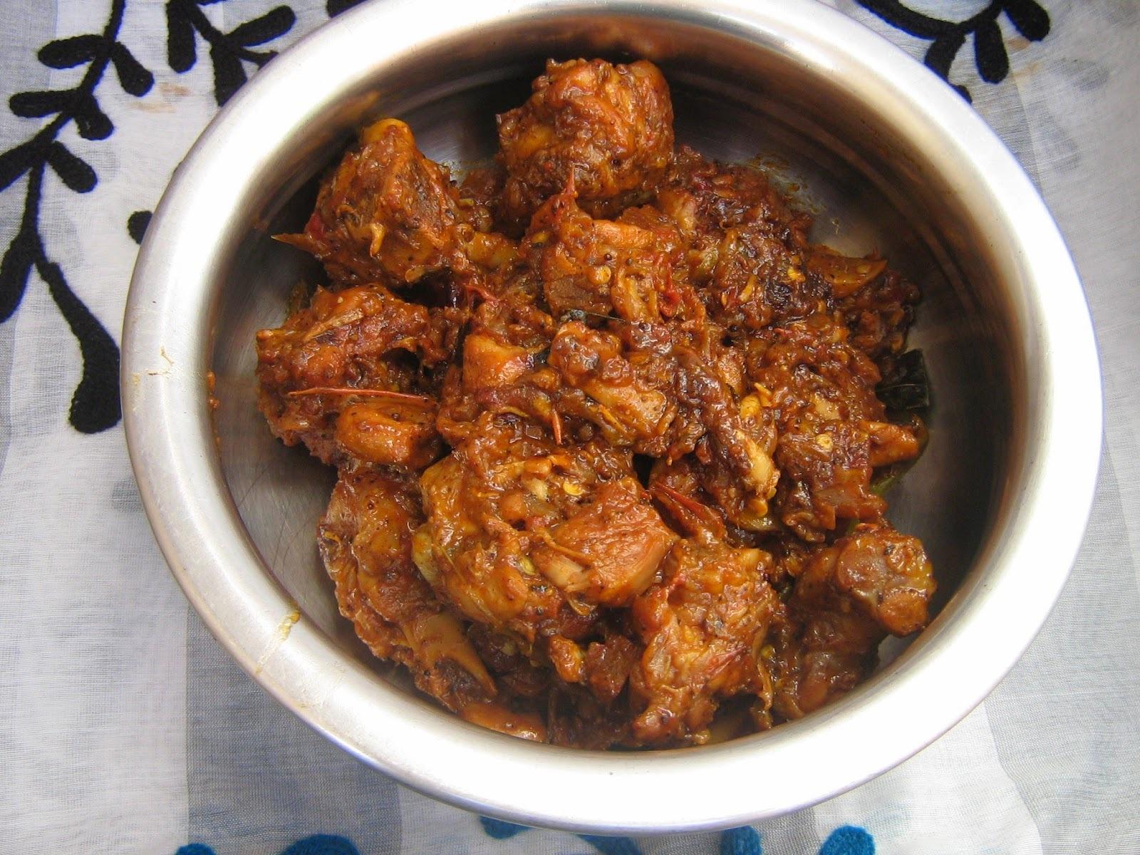 chicken varattiyathu / kozhi varattiyathu / chicken fry