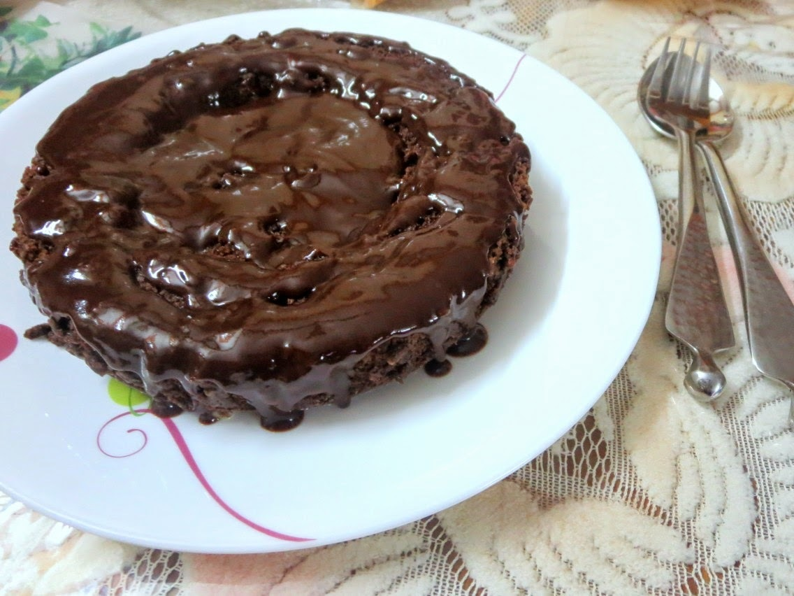 Eggless Butterless Easy Chocolate Cake