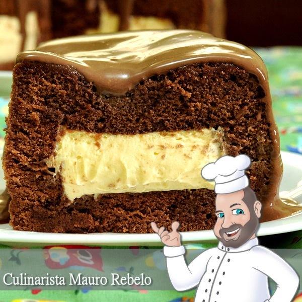 Bolo de Chocolate com Mousse de Maracujá - veja como fazer o recheio quadrado