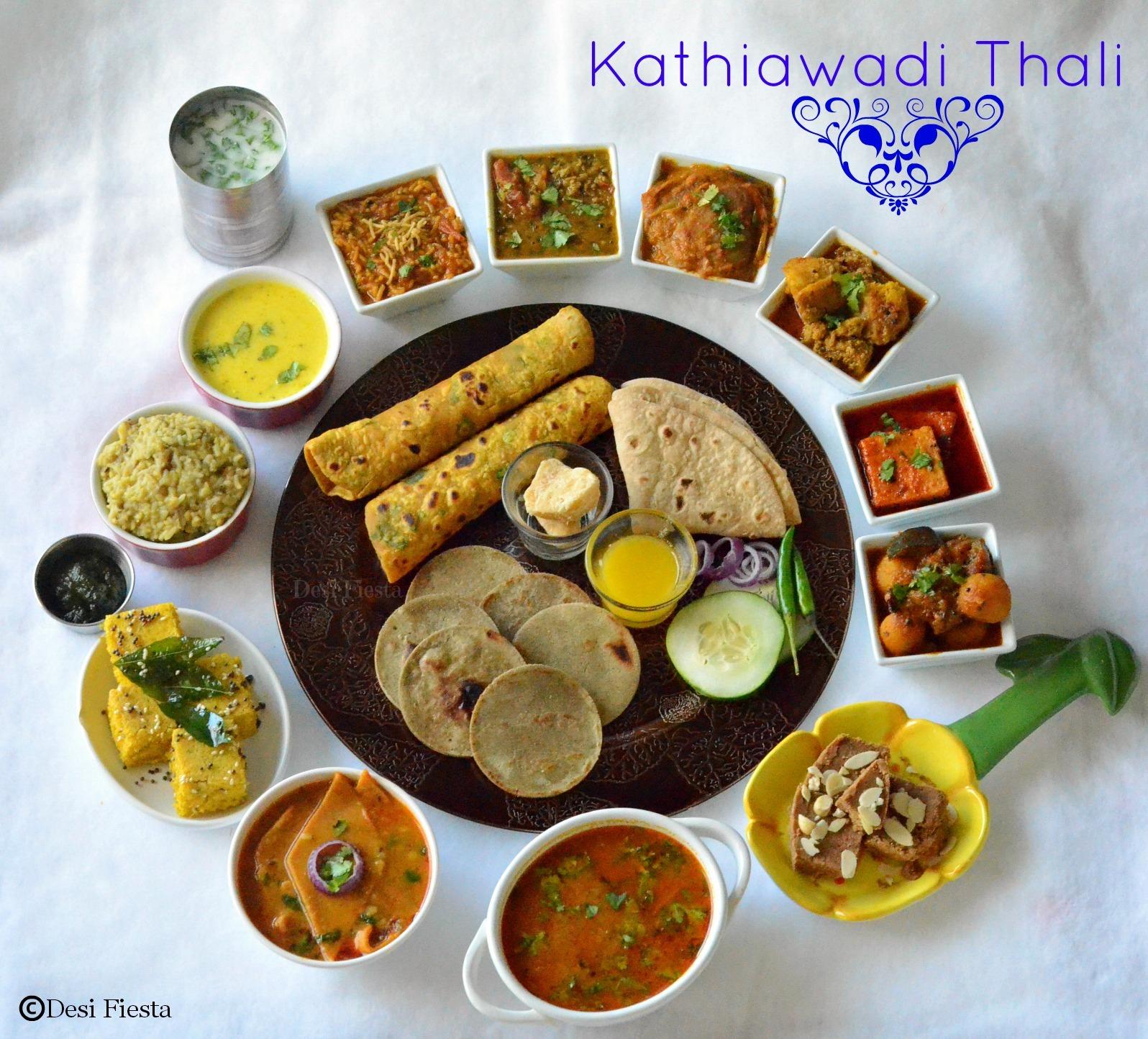 Kathiawadi Thali |Gujarati Thali |Gujarati Bhano