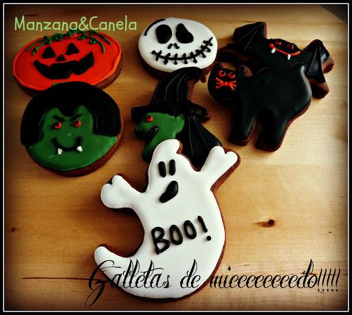 Galletas de miedo! Feliz Halloween para todos (aunque sea con retraso...)