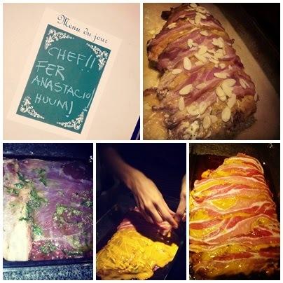 Fraldinha ao molho de mostarda coberta com Bacon!