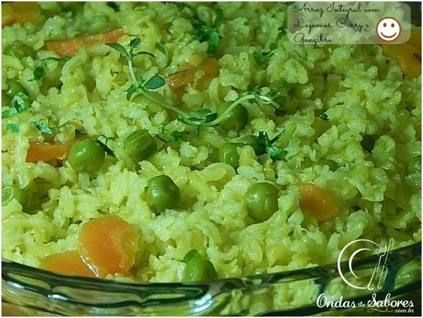 Arroz Integral com Legumes ao Curry e Gengibre