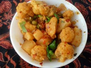 Aloo gobi punjabi recipe|alu gobhi matar sabji