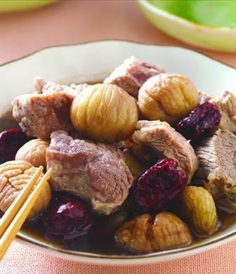 Chestnut stew red dates