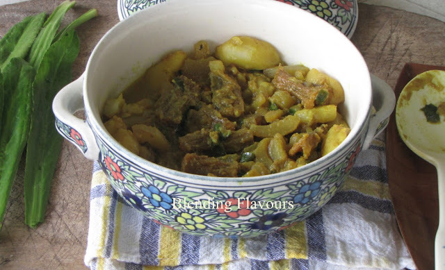 Bombay Duck Curry With Cucumber & Potatoes