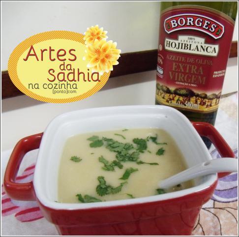 Sopa creme de grão de bico  e tahine