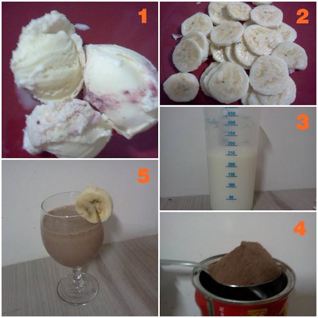milk shake de banana sem sorvete