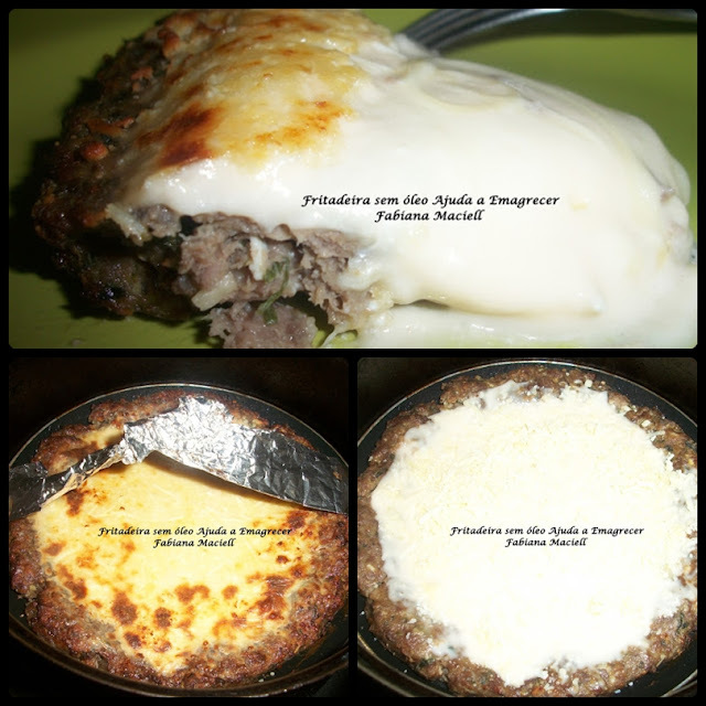 TORTA DE CARNE MOÍDA COM MOLHO BRANCO E QUEIJO na Fritadeira sem óleo