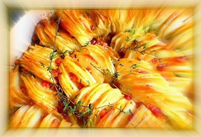 Batata crocante assada