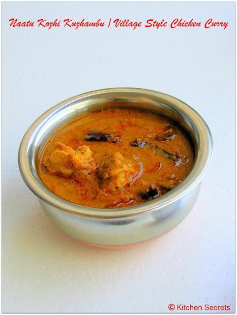 Naatu Kozhi Kulambu / Village style chicken curry