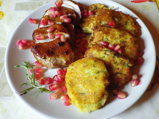 Gránátalmás kacsamell tunéziai krumplikrokettel