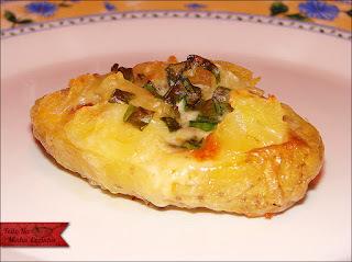 batata recheada bacon cebola requeijão