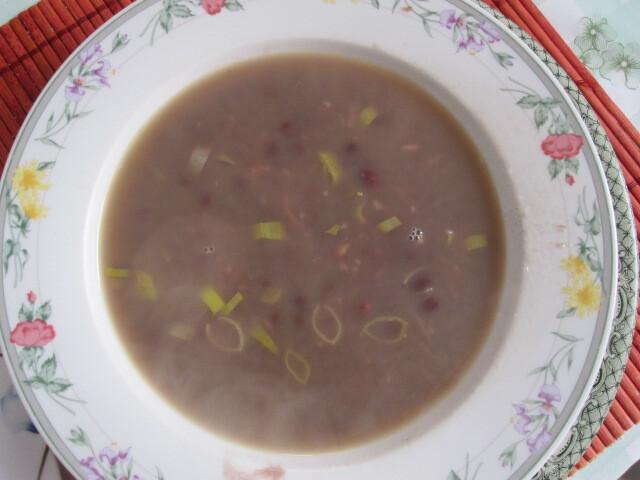 Sopa de feijão azuki