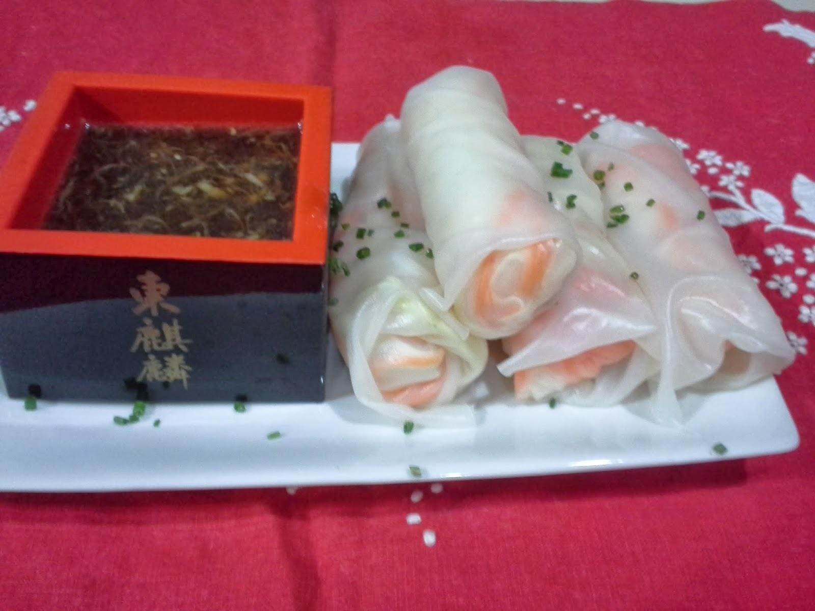 rolinhos de acelga com arroz