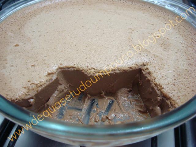 Pudim de maria mole de chocolate