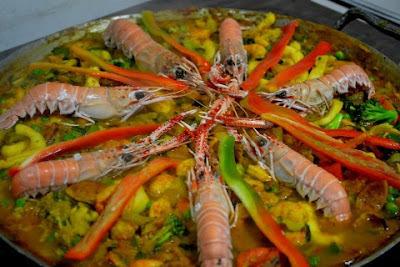 Paella de frutos do mar Chef Zéca