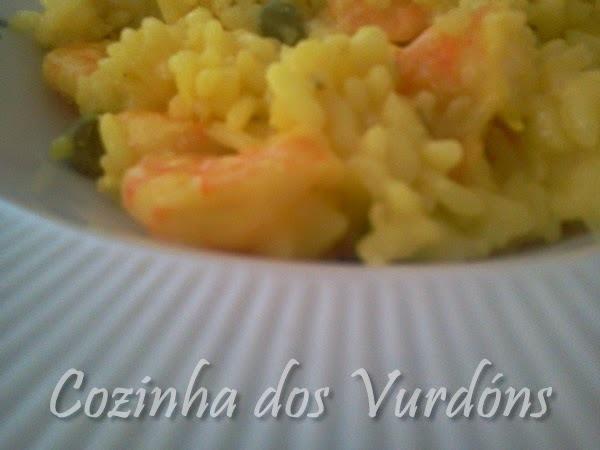 ARROZ DE CAMOMILA COM CAMARÃO.