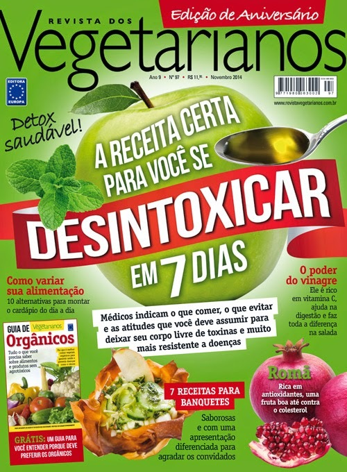 Revista Vegetarianos,  Edição 97 - Novembro/2014