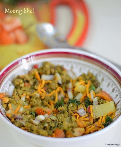 Moong bhel recipe - healthy snack recipes