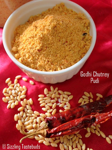 Godhi Chutneypudi | Wholewheat Spice Powder | Condiment recipes