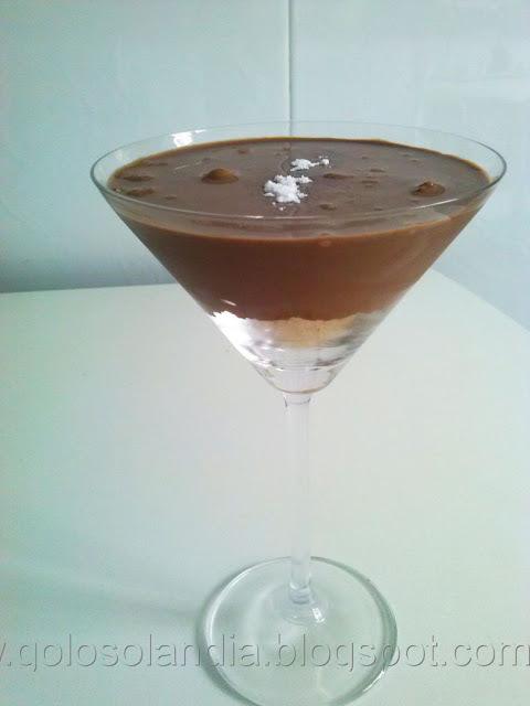 Crema de  chocolate y galleta, receta casera paso a paso (5  minutos).