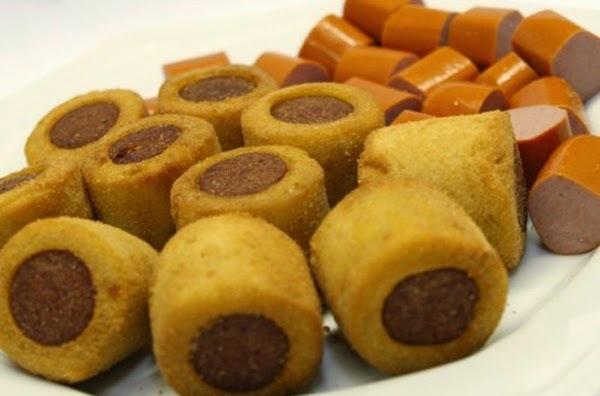 Enroladinho de Salsicha frito #Quinta-Feira